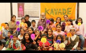 workshop with Prof. Sudarshan Khanna, organized by Kavade Toyhive, Banglore on 21,22 sept 2013 for children and adults