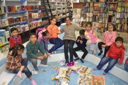 toy making workshop on 14th dec 2013 at oxford book store delhi